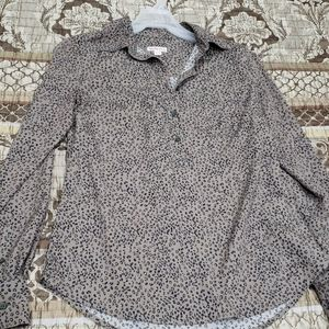Taupe half button shirt merona xs